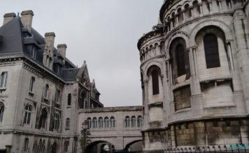 Katedra Najświętszego Serca Pana Jezusa jakby ołówkiem rysowana, Paryż, Francja